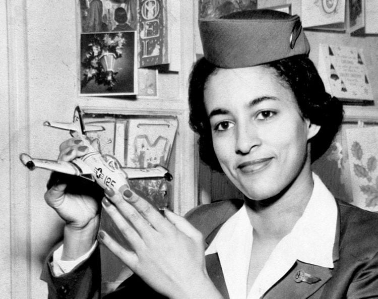 Ruth Carol Taylor - First African-American stewardess hired in 1957