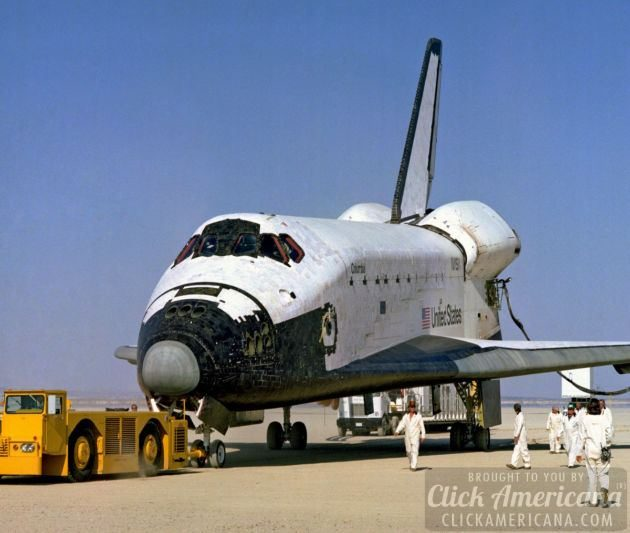 STS-1 Space Shuttle Columbia on Rogers Dry Lakebed 1981