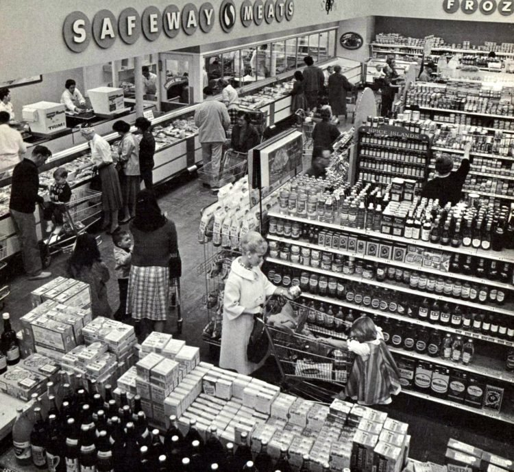 Safeway vintage grocery store - 1961