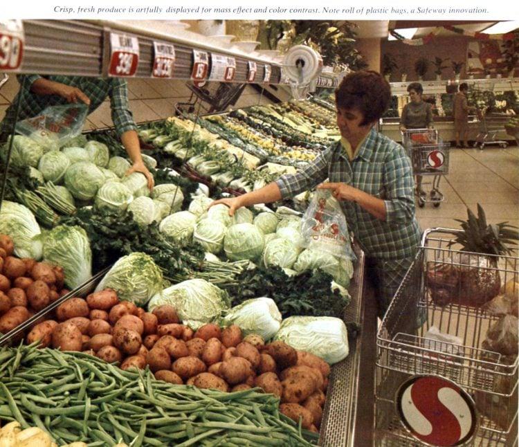 Safeway vintage grocery store - 1968 - vintage 1960s supermarkets
