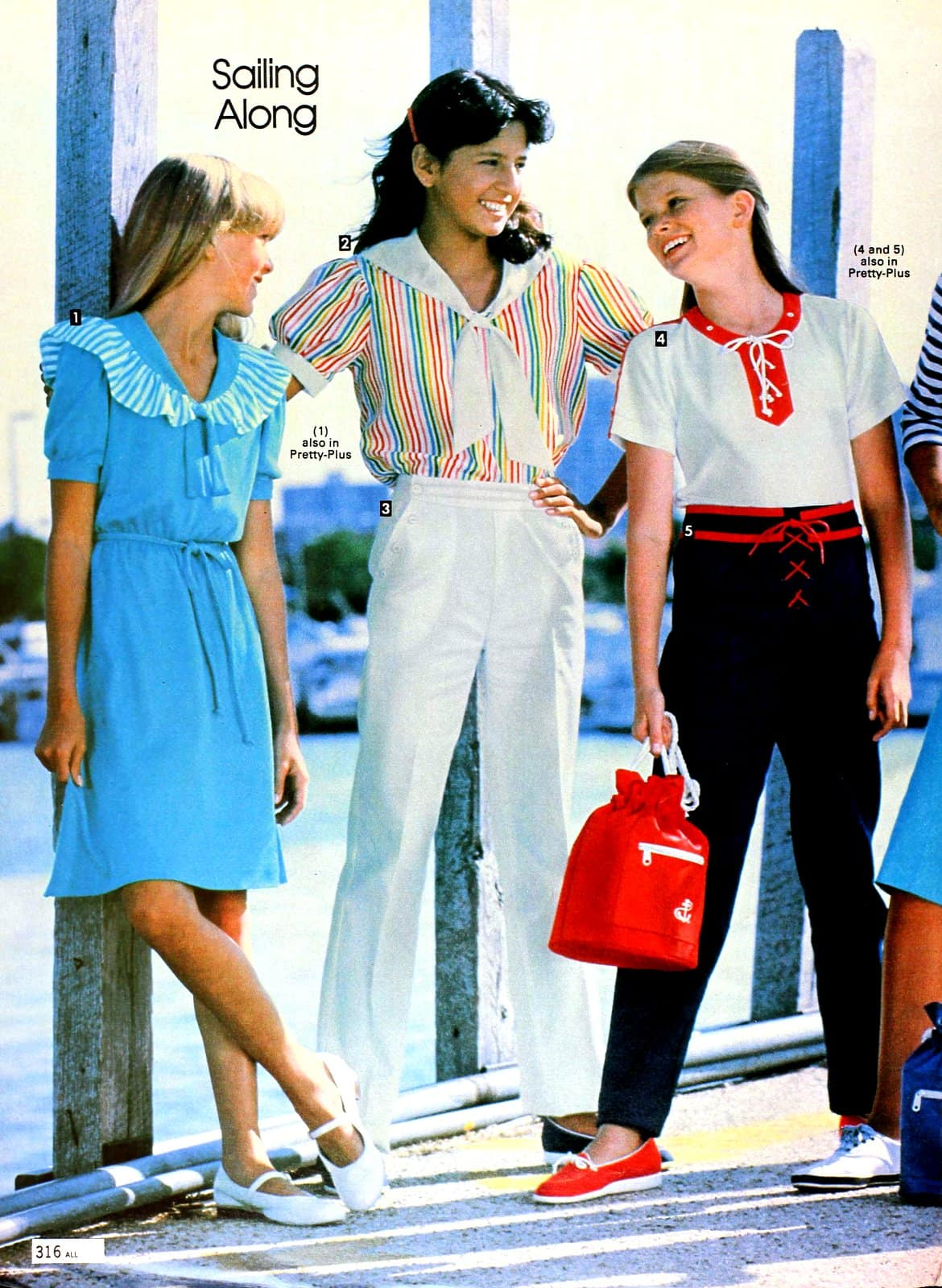 Sailing along - Retro 80s spring clothes for the shore and sailboat