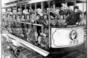 St Paul's street trolley: The Auto of the People (1904)