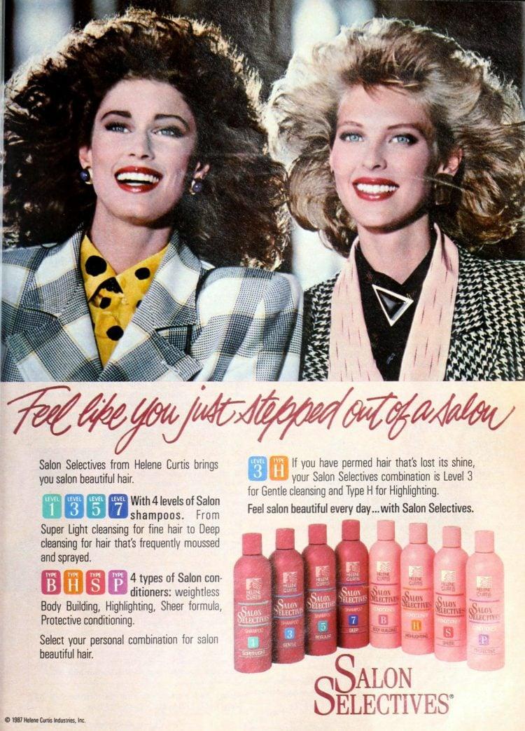 Salon Selectives shampoo and conditioner (1987)