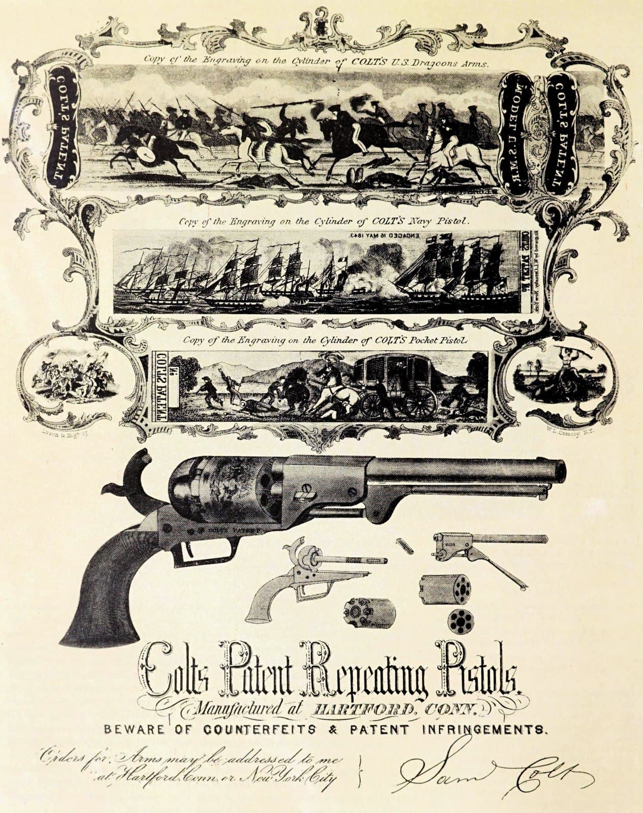 Samuel Colt's repeating pistols - The gun that made him famous