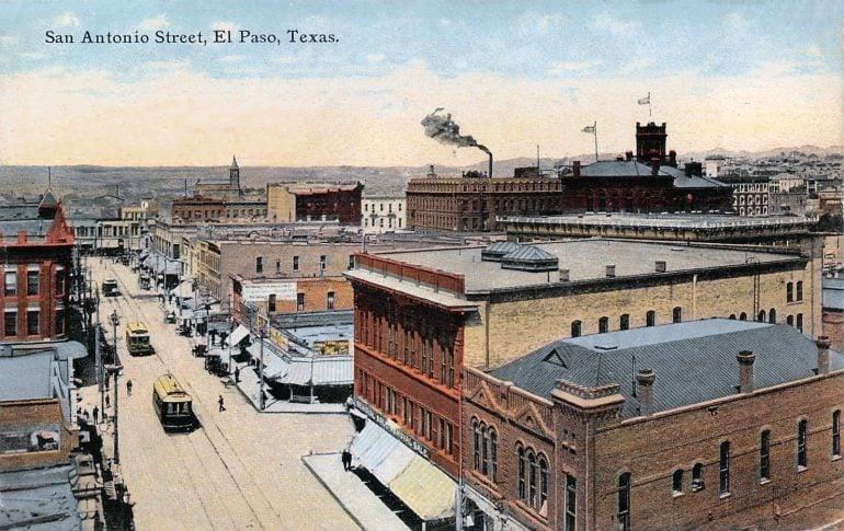 San Antonio Street in El Paso, Texas (early 1900s)