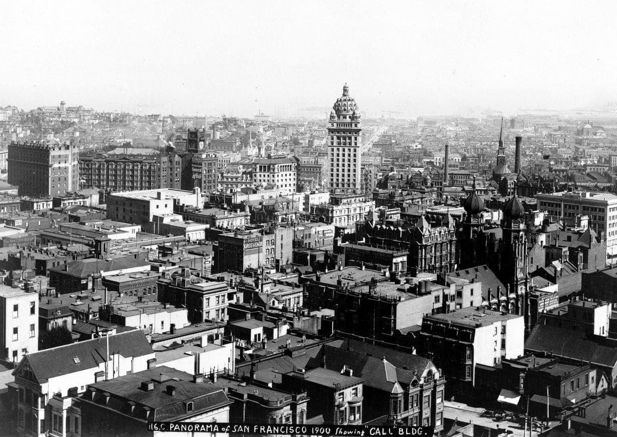San Francisco panorama 1900