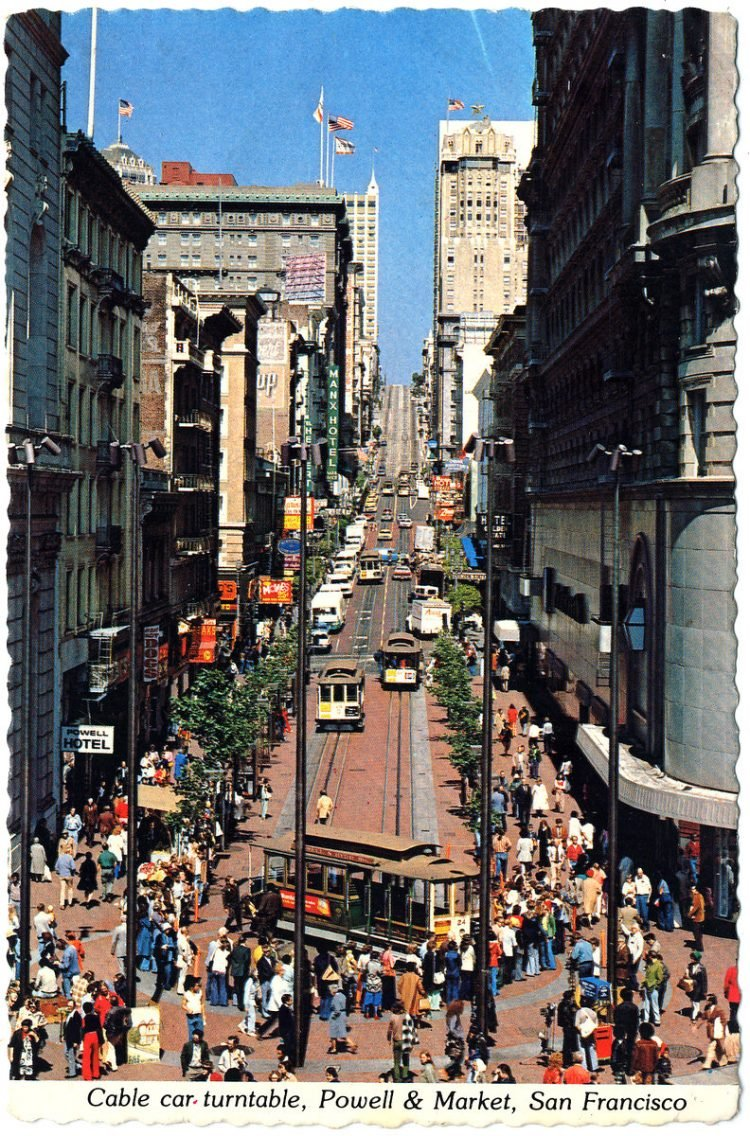 San Francisco postcard from the 1970s 1980s