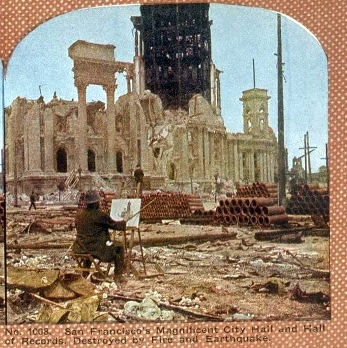 San Francisco's Magnificent City Hall and Hall of Records, Destroyed by Fire and Earthquake