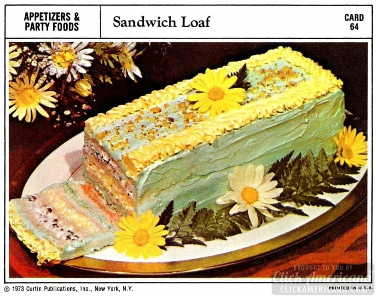 Sandwich loaf recipe from 1973