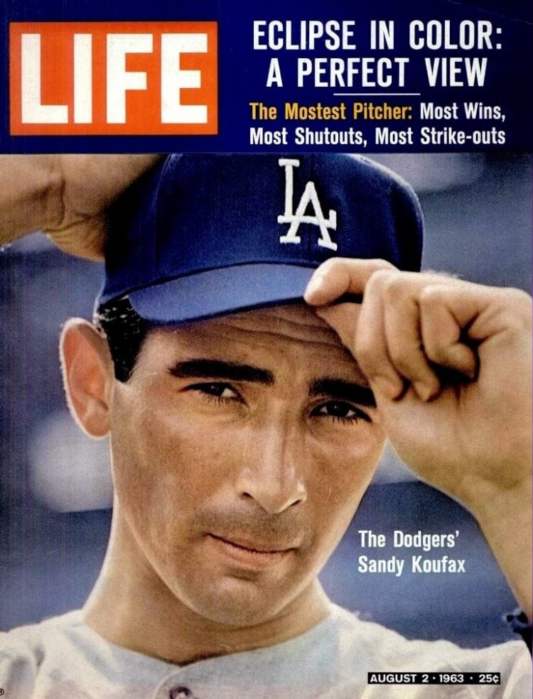 Sandy Koufax on the cover of Life magazine - August 2, 1963-001