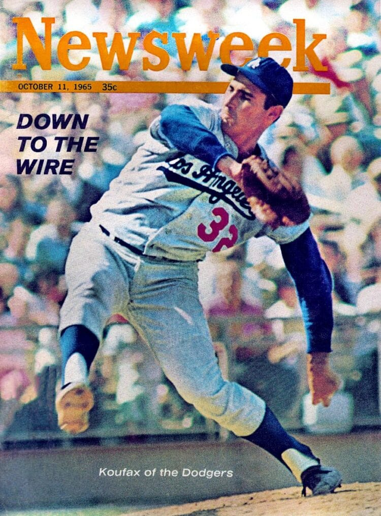 Sandy Koufax on the cover of Newsweek magazine - October 1965