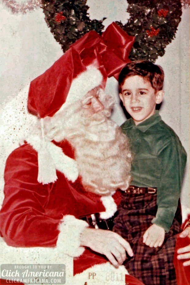 Santa and Jim the Photographer December 1956