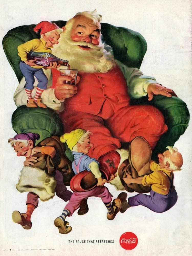 Santa with Coke 1960