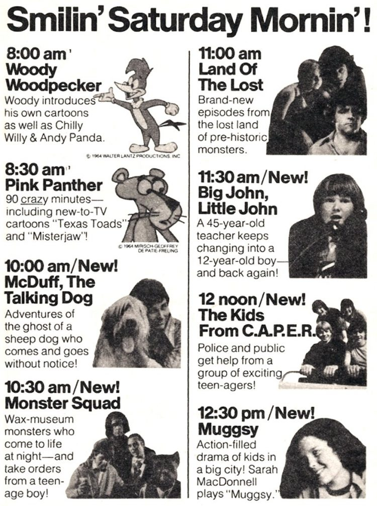 Saturday Morning NBC TV shows from 1976