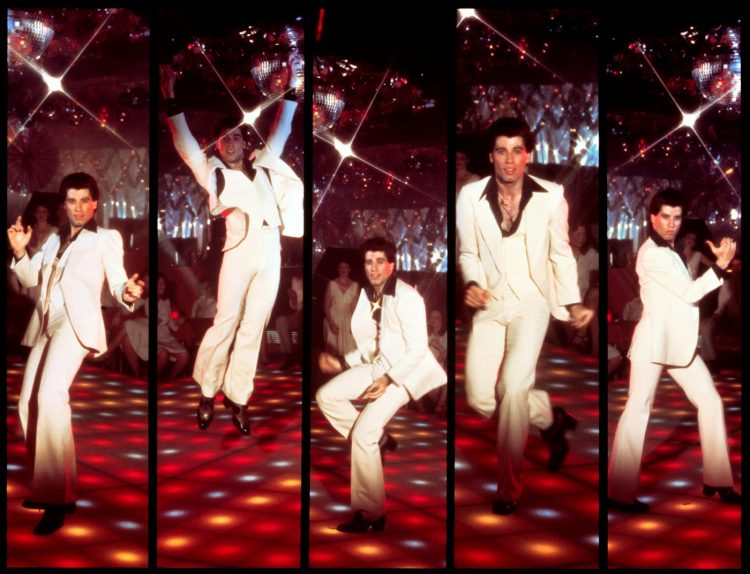 Saturday Night Fever - Travolta disco movie lobby card