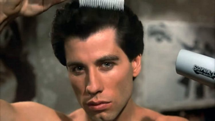 Saturday Night Fever - Travolta drying his hair