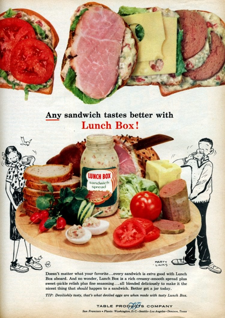 Sausage lunches from the 1950s - Help with saving money on food