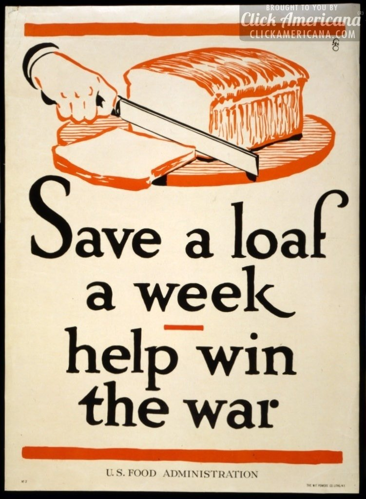 WWI food rationing posters (1917-1919)