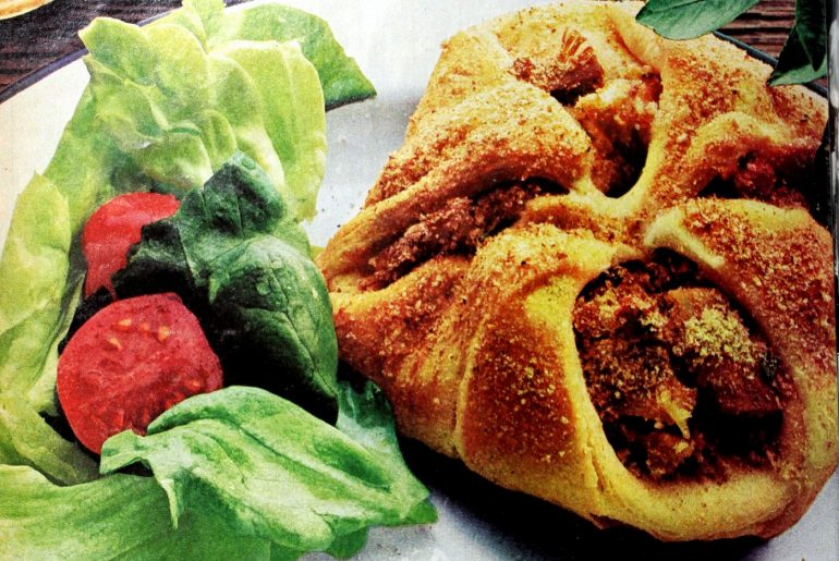 Savory crescent chicken squares (1974)