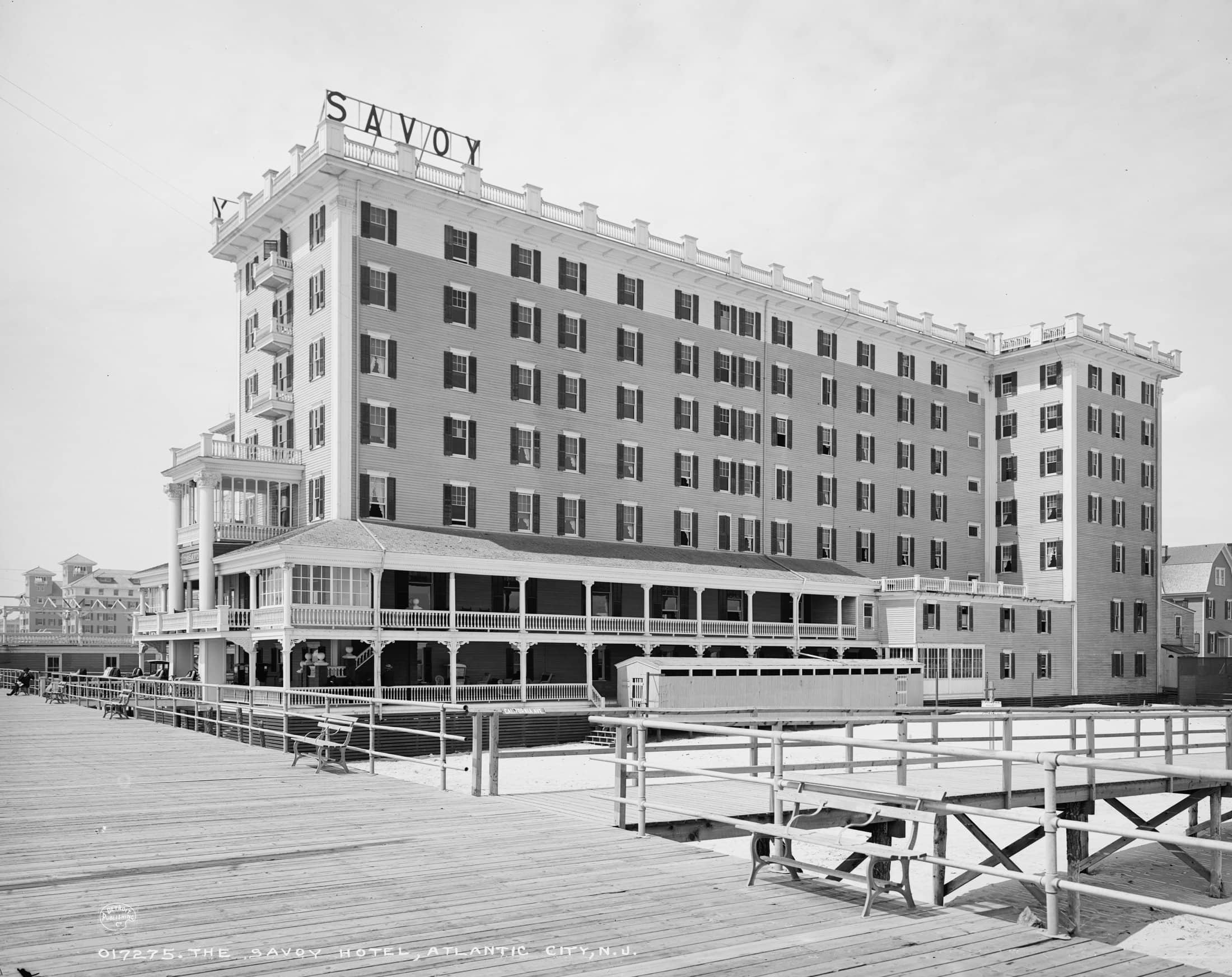 Savoy Hotel, Atlantic City in the early 1900s
