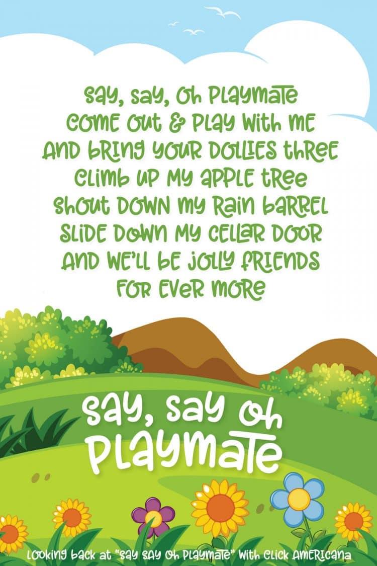 Say Say Oh Playmate - at Click Americana