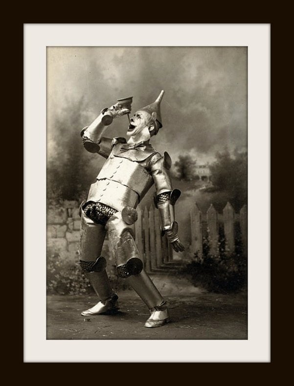 Scary vintage Wizard of Oz - Tin Woodman in 1902