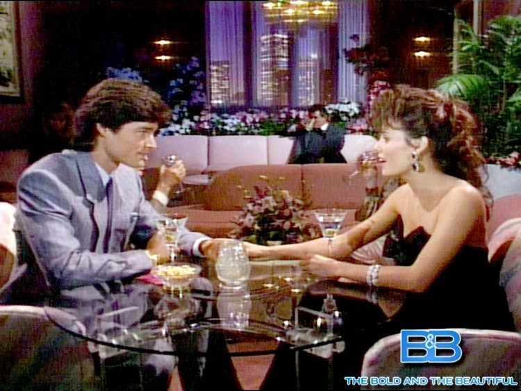 Scene from 80s Bold and the Beautiful soap opera