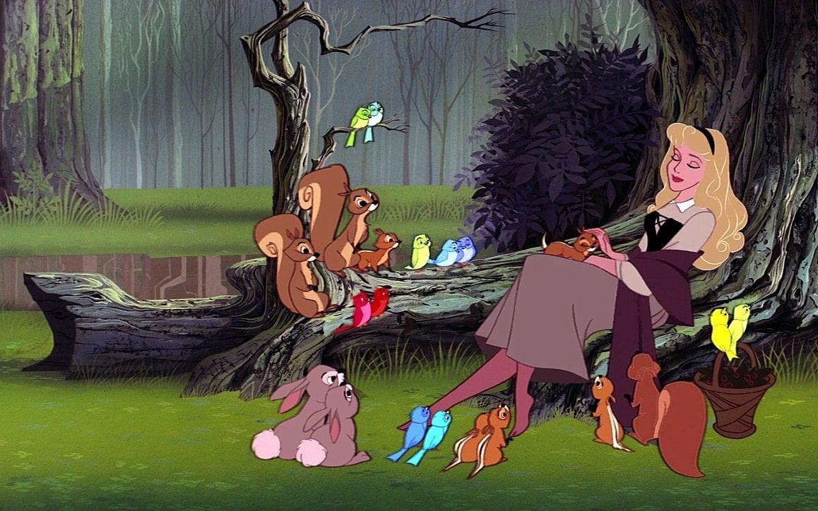 Scene from Disney's Sleeping Beauty movie - 1959