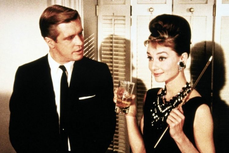 Scene from vintage movie Breakfast at Tiffany's