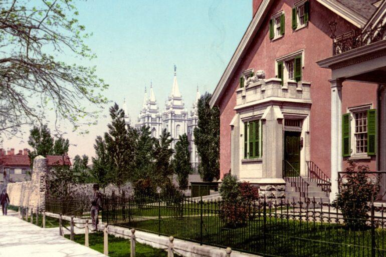 Scenes Salt Lake City in 1900