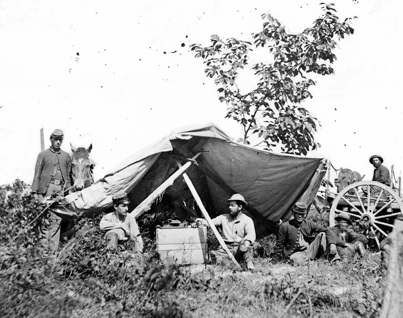 Scenes from Civil War Battle of the Wilderness (1)