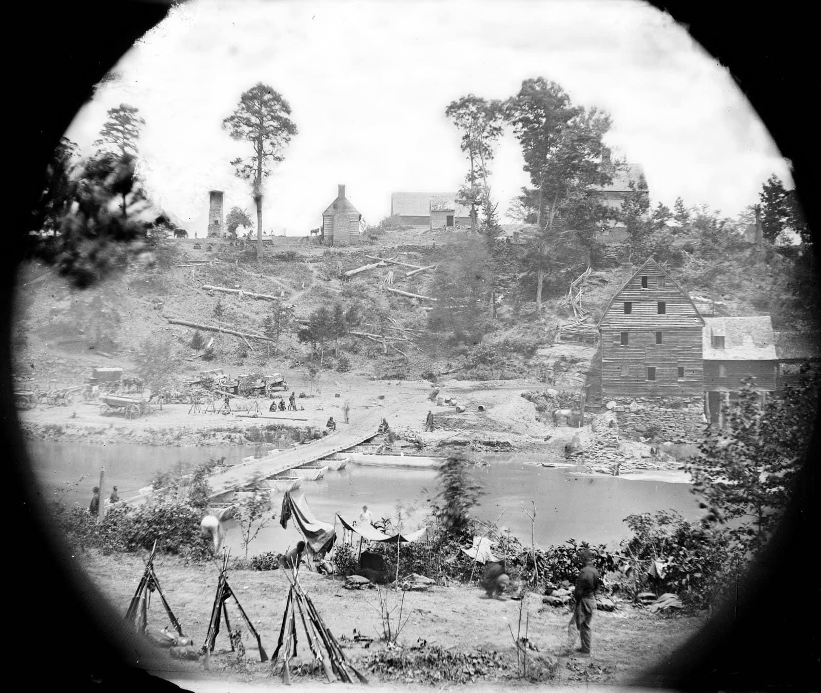 Scenes from Civil War Battle of the Wilderness (2)