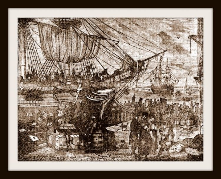 Scenes from the Boston Tea Party in 1773 (4)