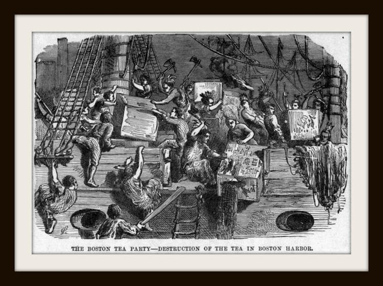 Scenes from the Boston Tea Party in 1773 (8)