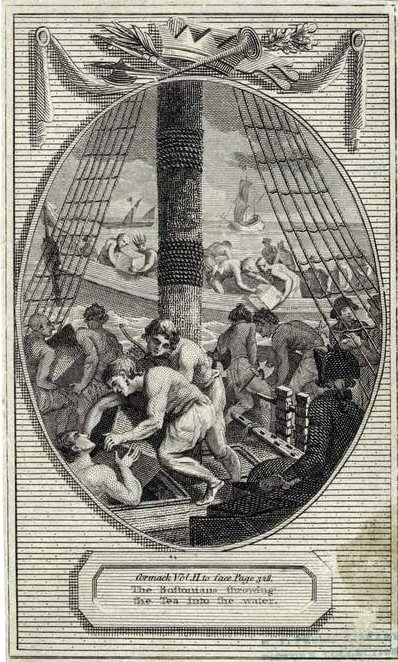 Scenes from the Boston Tea Party in 1773 (9)