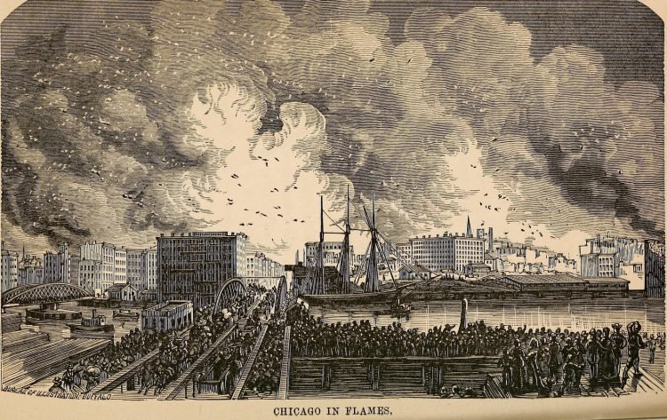 Scenes from the Great Chicago Fire of 1871 (2)