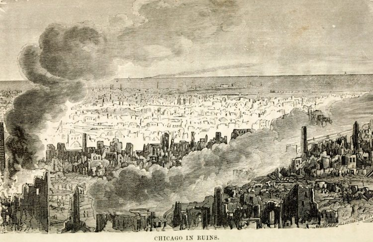 Scenes from the Great Chicago Fire of 1871 (3)