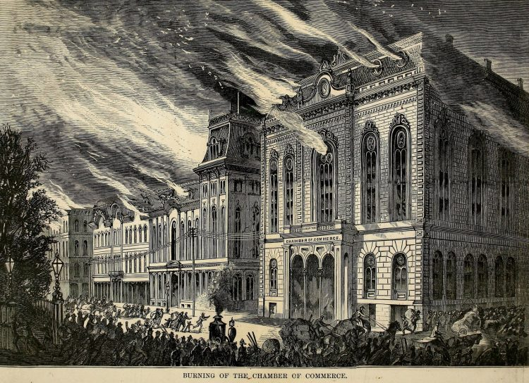 Scenes from the Great Chicago Fire of 1871 (4)