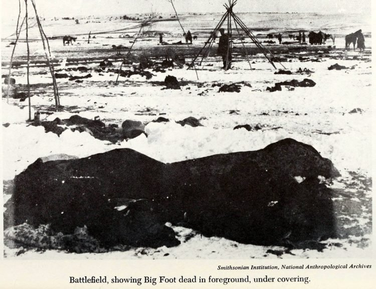 Scenes from the battlefield - Wounded Knee Massacre 1890 (4)