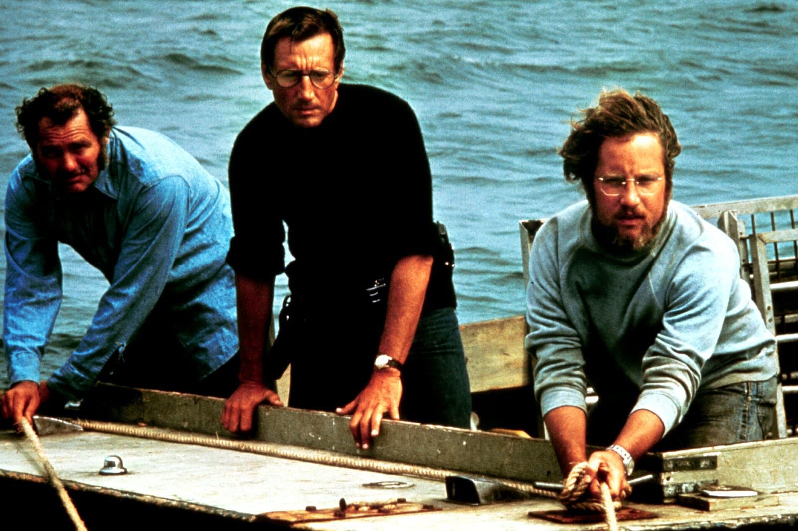 Scheider Shaw Dreyfuss in Jaws