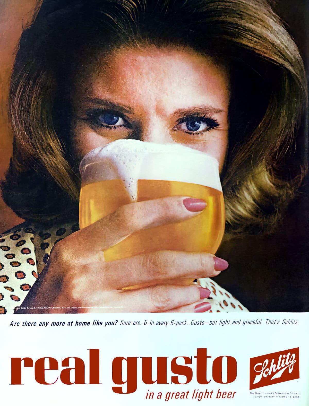 Schlitz with real gusto (c1960)