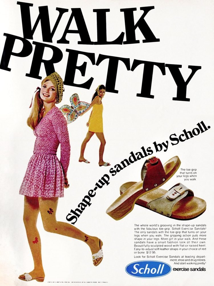 Scholl's Exercise Sandals 1970
