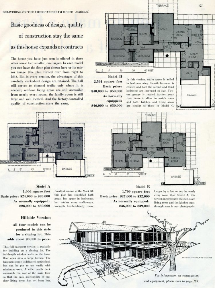 Scholz Mark 58 mid-century modern model home design plan (1)