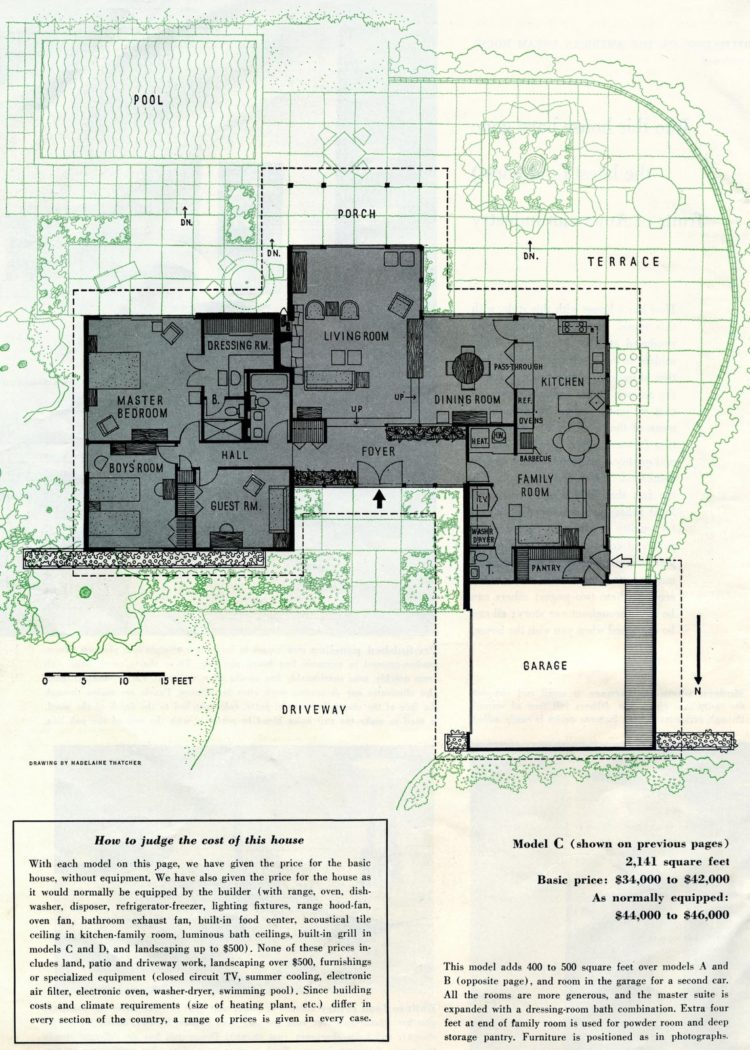 Scholz Mark 58 mid-century modern model home design plan (2)