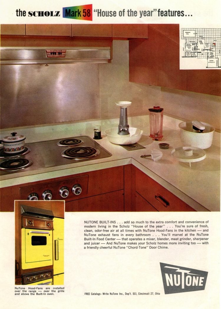 Scholz Mark 58 mid-century modern model home kitchen-family room (5)