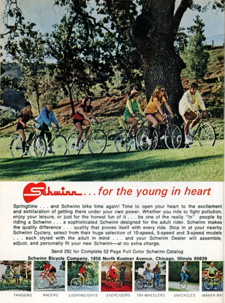 Schwinn 10 speed bikes from 1972