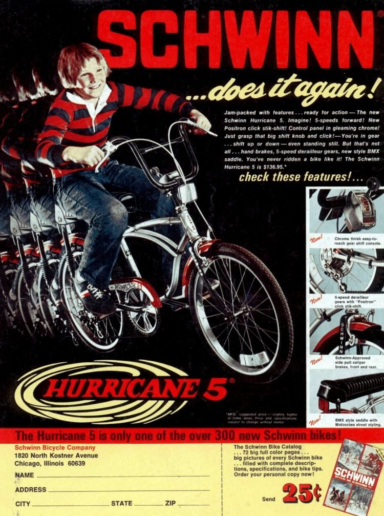 Schwinn Hurricane 5 bike 1977
