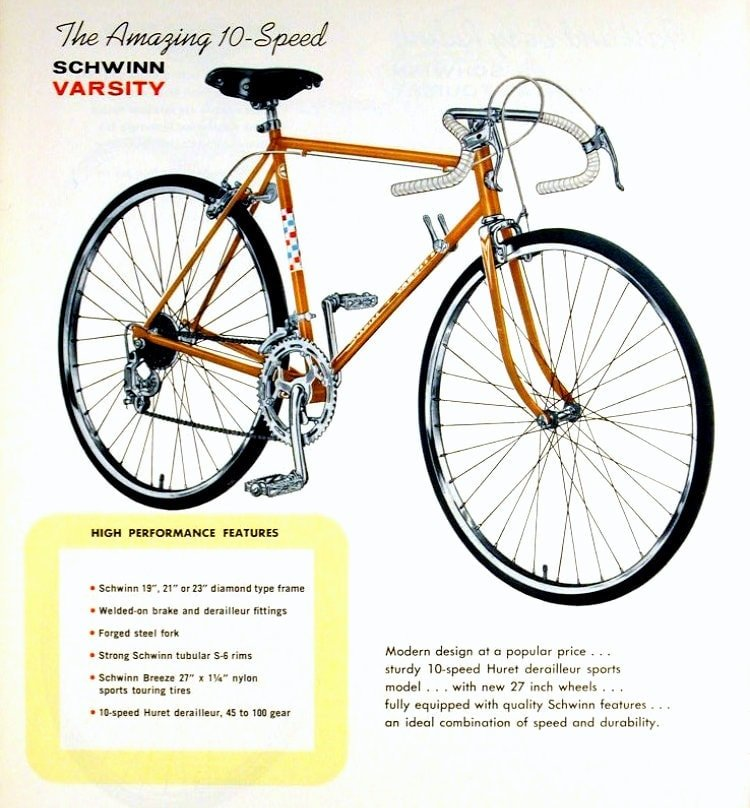 Schwinn Varsity 10-speed bike - 1972
