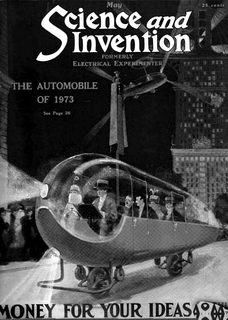 Science and Invention magazine 1923 - 1973 car