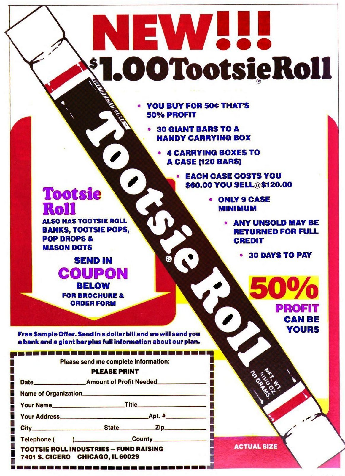 Scouts selling Tootsie Rolls (1983)